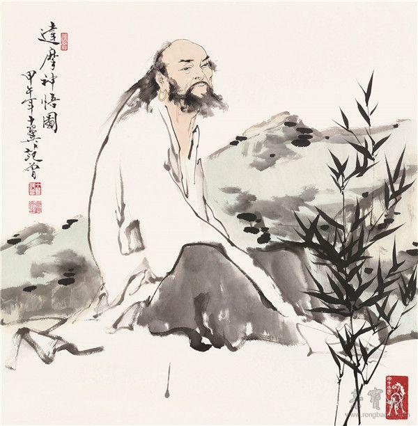 范曾 达摩神悟图 68cm×69cm 纸本设色2014年