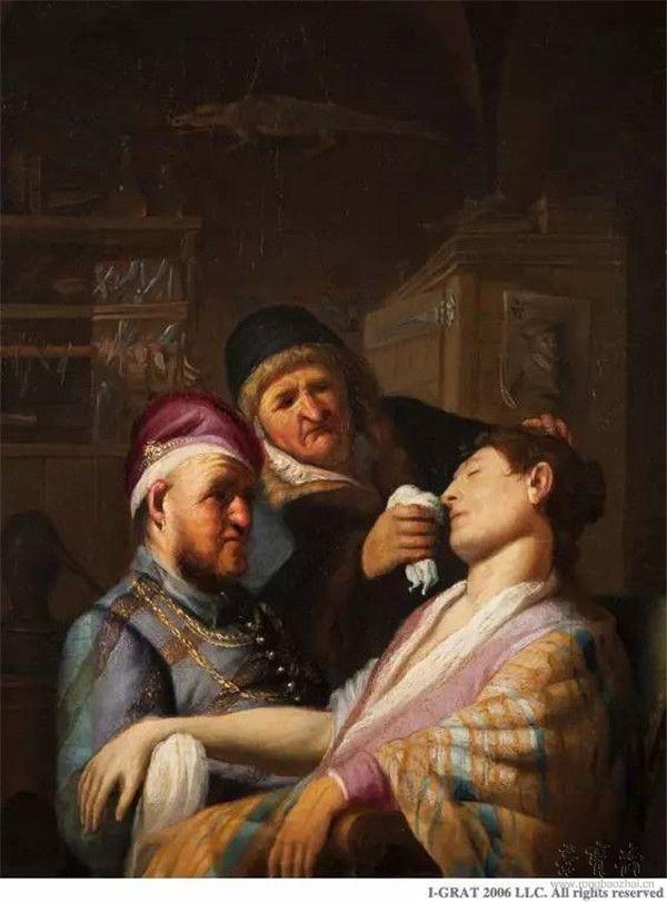 伦勃朗•凡•莱因《失去知觉的病人》(Unconscious Patient ),又名《嗅觉的寓言》(Allegory of Smell),约
