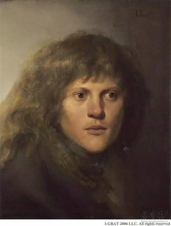 扬•利文斯《自画像》(Self-Portrait),约1629-1630年,木板油画,42×37厘米