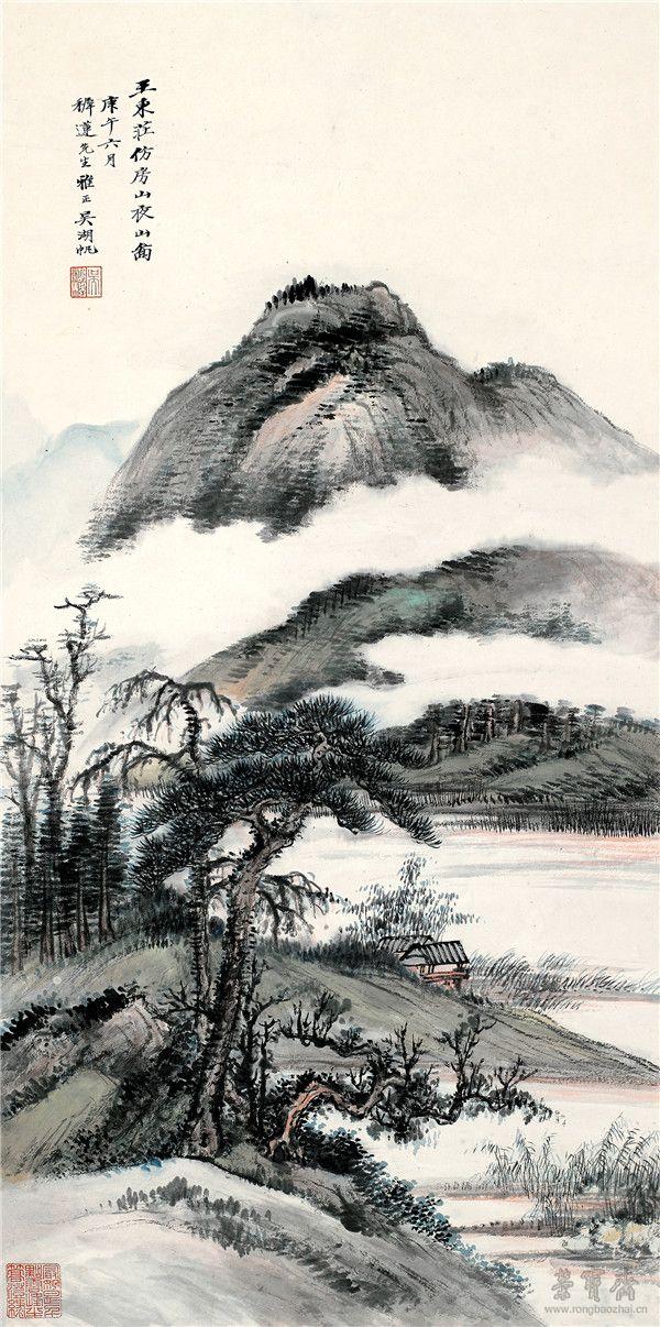 吴湖帆《夜山图》