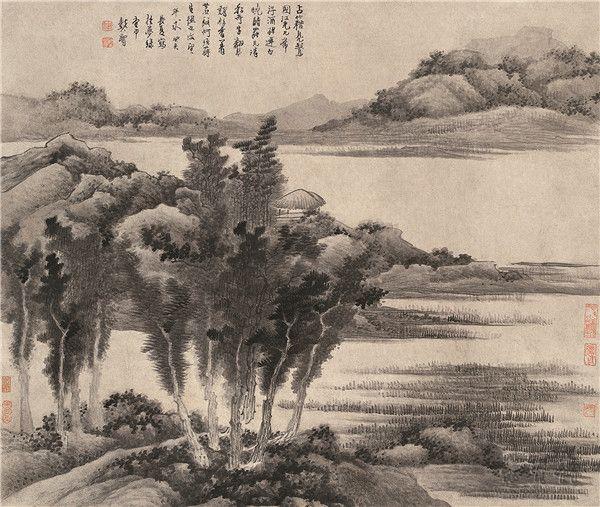 龚贤 《山水图》