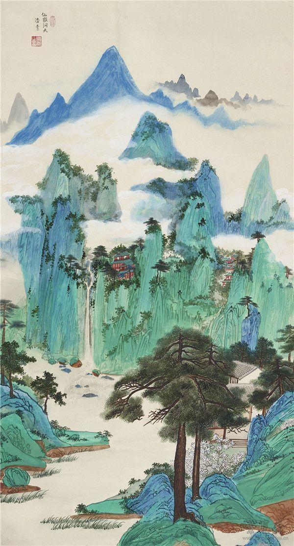 潘素  《仙岳洞天》