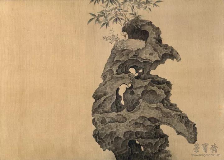 丁学军  临祥龙石 38.5cm×50.5cm  纸本设色  2017
