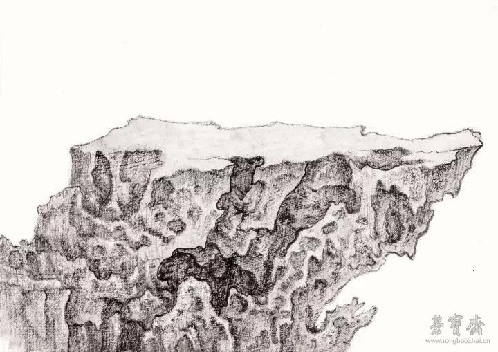 徐光聚 探云 39.5cm×42cm 纸本墨色 2017