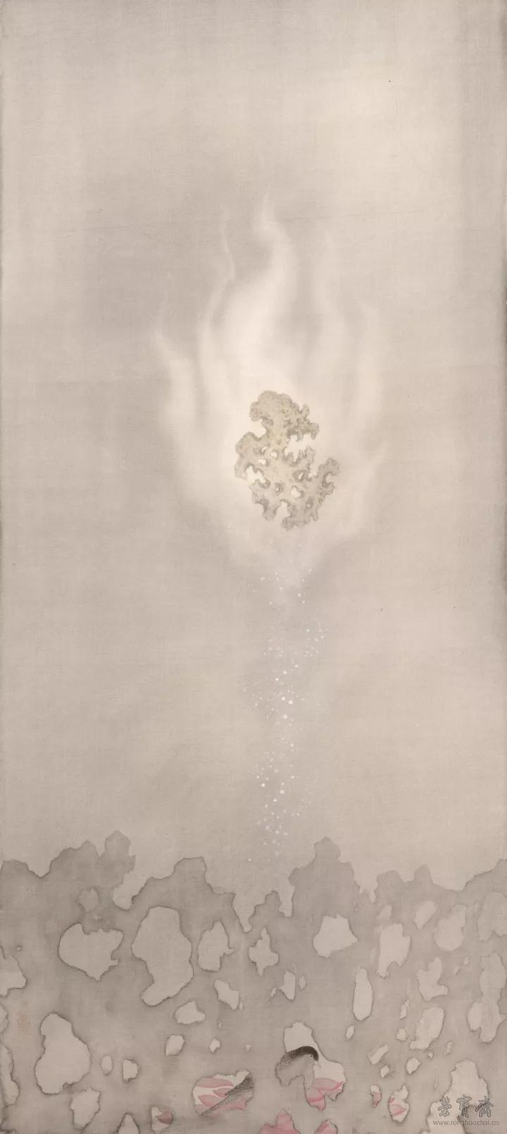 廖星君 妙法莲华 113.5cm×51cm 绢本设色 2017