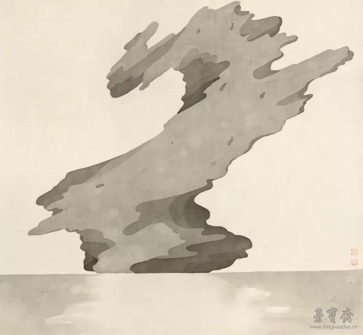 李振  冠云 50cm×46cm 纸本水墨  2017