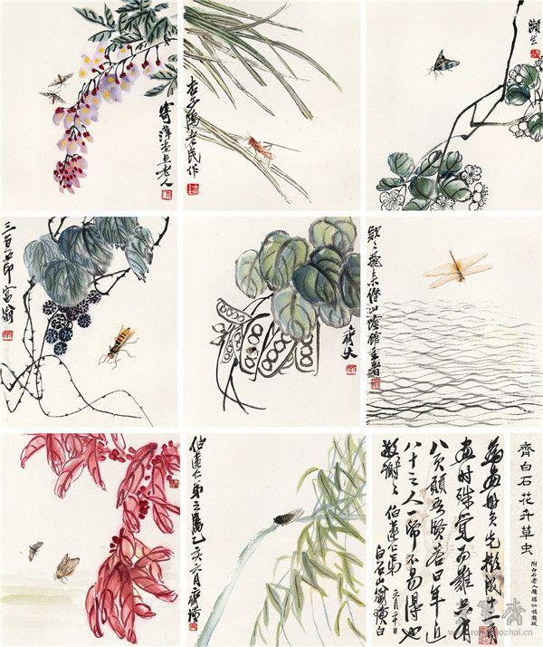 512  齐白石 花卉草虫(八开)
