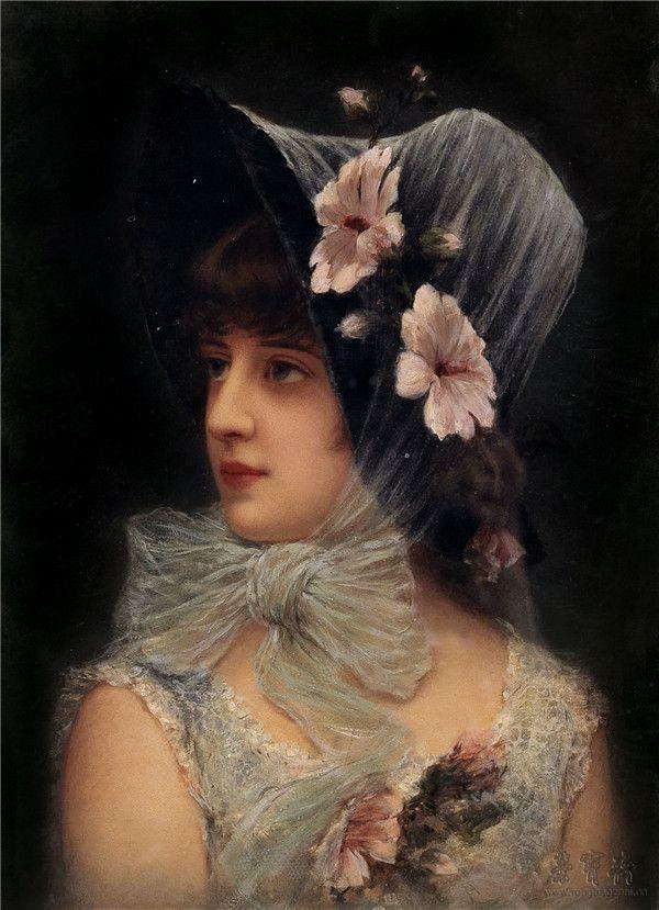 埃米尔·埃斯曼·希马诺夫斯基  带帽子的女子